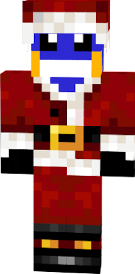 its a mudkip in a santa claus outfit