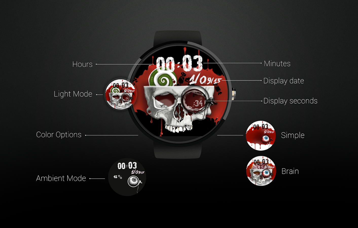 Watch Face: Halloween Screenshot 0