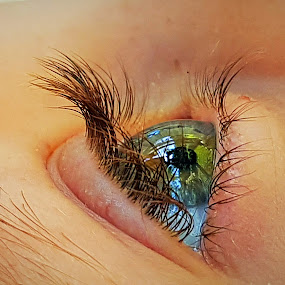 Into the blue by Hayley Moortele - People Body Parts ( body parts, eyelashes, blue eyes, people, eyes,  )