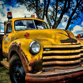 Old Tow Truck by Scott Bryan - Transportation Other ( old, tree, vintage, truck, tow, chevy )