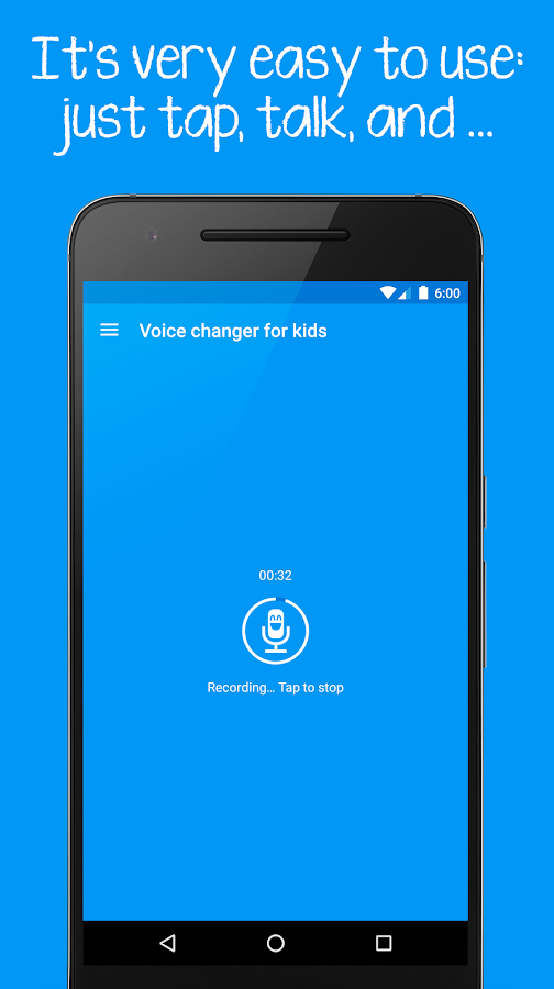 Voice changer for kids Screenshot 0