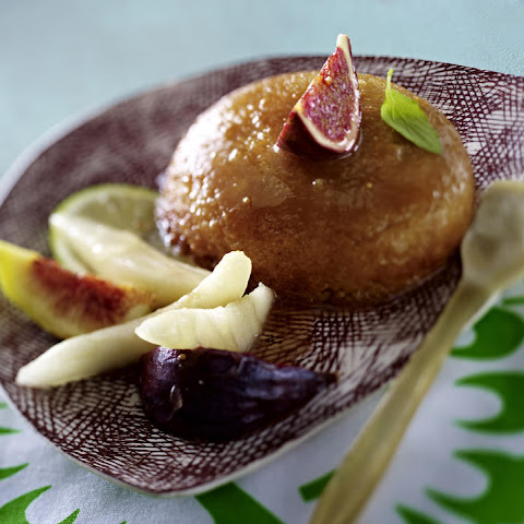 Apricot Puddings with Pears and Figs