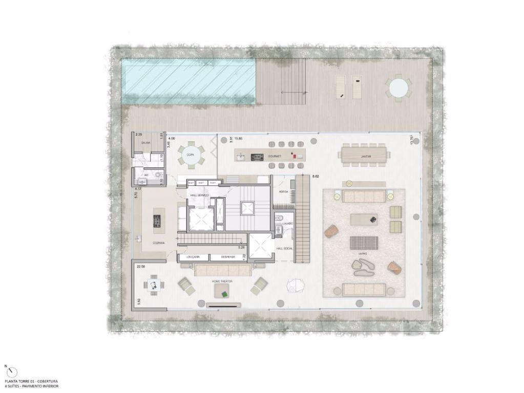 Cobertura Duplex  Pav Inferior  - 840 m²