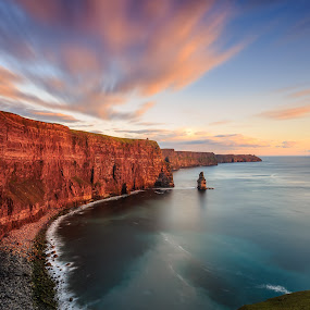 Cliffs of Moher by Ryszard Lomnicki - Landscapes Cloud Formations ( clouds, ireland, dublin, galway, cliffs of moher, long exposure, longexposure,  )
