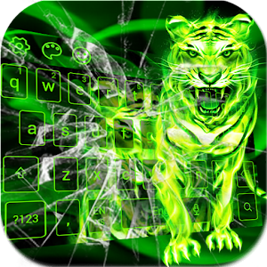 Download Roar neon green tiger king keyboard For PC Windows and Mac