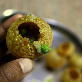 Pani puri by Lakshmi Sharoff - Food & Drink Cooking & Baking ( foodie, food, food shots, cooking, food photography )