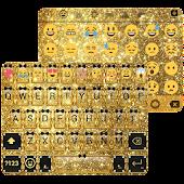 Download Gold Glitter Emoji Keyboard APK for Laptop