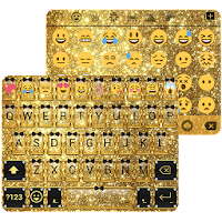Gold Glitter Emoji Keyboard For PC (Windows And Mac)