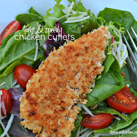 Light and Speedy Chicken Cutlets