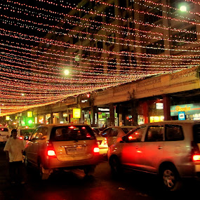 in the eve of x-mas..Park Street Kolkata..India by Srabani Mitra - City,  Street & Park  Street Scenes ( streets )
