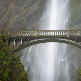 Multnomah Falls Bridge by Andy Taber - Buildings & Architecture Bridges & Suspended Structures