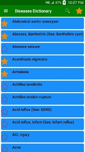Disorder & Diseases Dictionary - Medical offfline screenshot for Android