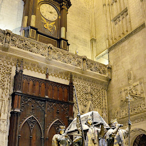 The tomb of Christopher Columbus, inside the Cathedral of Seville by Francis Xavier Camilleri - Buildings & Architecture Statues & Monuments