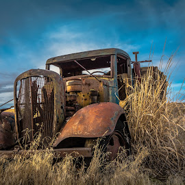 Rusted Retirement by Bob Juarez - Pixel Fusion Imagery - Transportation Other ( agriculture, farm truck, boneyard, fields, abandoned )