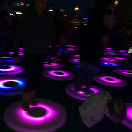by Cynthia Fraser - Abstract Light Painting ( light activated by motion, light city )