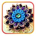 Цветы канзаши из лент