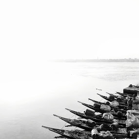 Showing Our Way by Sautrik Dutta Mantrani - Novices Only Landscapes ( boats, bw )