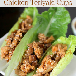 Paleo Slow Cooker Chicken Teriyaki Lettuce Wraps