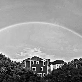 Double rainbow by Maricor Bayotas-Brizzi - City,  Street & Park  Vistas