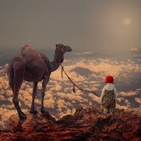 View of the world by Caras Ionut - Digital Art People ( ioana, carasdesign, line, stone, ocean, captain, tools, caras ionut, psd, camel, girl, rolling, metal, buildings, above, trip, baby bubble, top, photoshop, water, tutorials, manipulation, traveling, chain, pallet, high, antena )