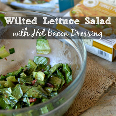 Wilted Lettuce Salad with Hot Bacon Dressing. A Classic Arkansas Recipe.