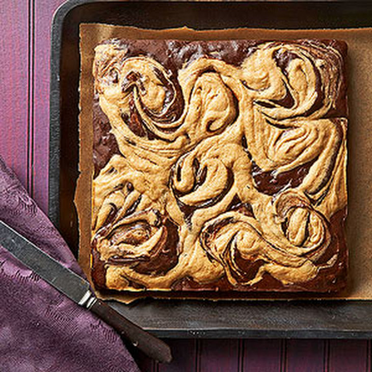 Peanut Butter Swirl Chocolate Brownies Recipe | Yummly