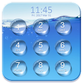 Water Lock Screen Password APK for Bluestacks