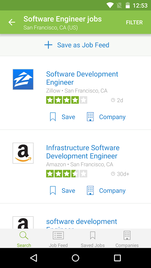 Job Search, Salaries & Reviews Screenshot 1