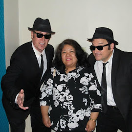 With Blues Brothers impersonators by Maricor Bayotas-Brizzi - People Musicians & Entertainers