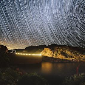 Roosevelt Stack by Jonathan Stolarski - Landscapes Starscapes ( az, arizona, star, southwest, astrophotography, night, star trails, night sky, starscape, milky way, dessert )