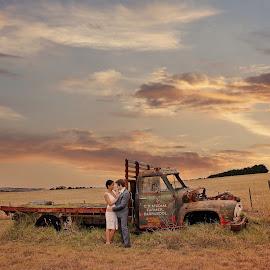 Rustic Charm by Alan Evans - Wedding Bride & Groom ( alan, wedding, aj photography, bride and groom, rustic )