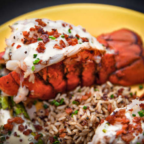 Grilled Lobster Tails with Bacon Butter Sauce