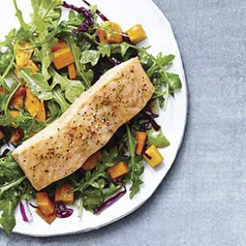 Roasted Salmon & Butternut Squash Salad