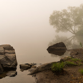 Foggy morning by Terry Lupton - Landscapes Waterscapes ( calm, water, fog, quiet, morning, nikon )