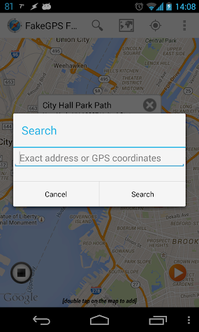 Fake GPS GO Location Spoofer Free Screenshot