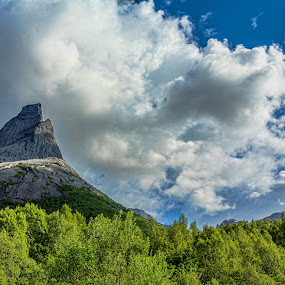 Stetind by Benny Høynes - Landscapes Mountains & Hills ( mountain, landscape, rocks, woods, norway )