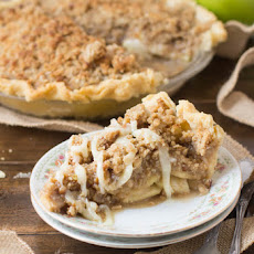 Dutch Apple Pie with White Chocolate Butter Sauce