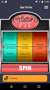 SlotFit Pro Fitness app screenshot for Android