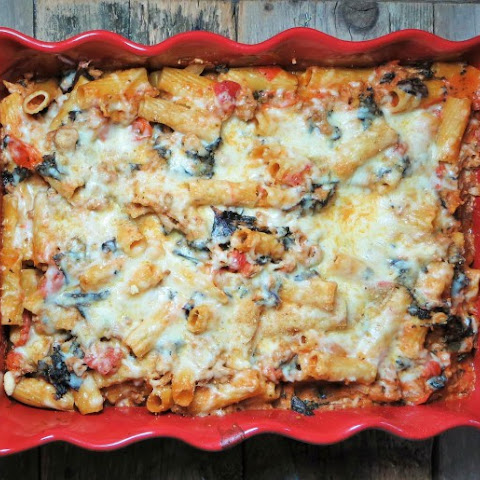 Turkey & Kale Baked Ziti {Greek Style}