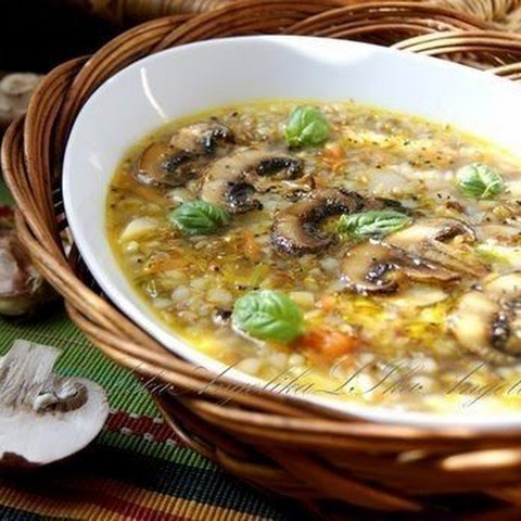 Weight loss, Soup with mushrooms and buckwheat