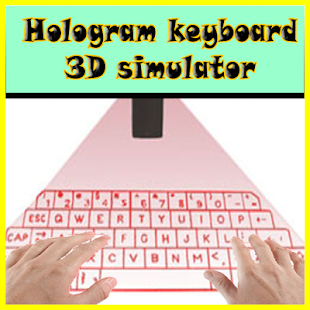 Hologram keyboard 3D simulator - screenshot