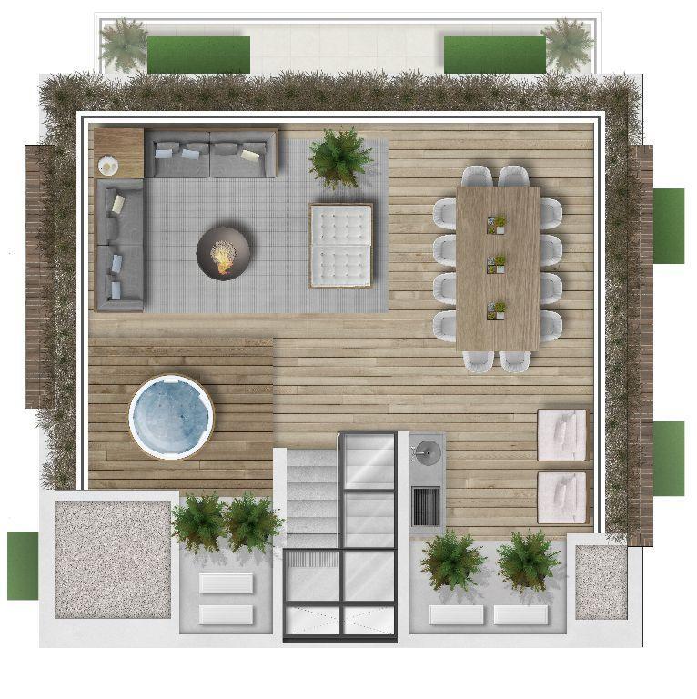 Planta da Casa 1 - Cobertura