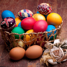 Easter Basket by eZeepics Studio - Food & Drink Plated Food ( festive, seasonal, decorative, colorful, bright )