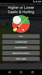Higher or Lower Gaelic&Hurling - screenshot