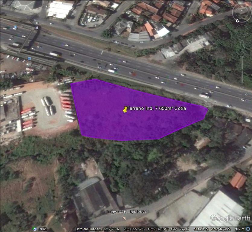 Terreno industrial à venda, Parque Rincão, Cotia.