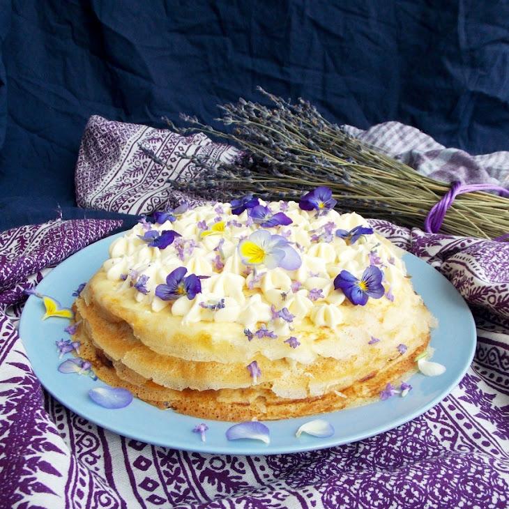 Mascarpone Apricot Lavender Crepe Cake Recipe | Yummly