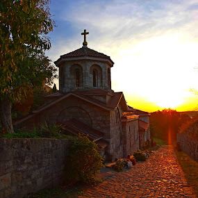 Church Sv. Petka Belgrade by Natasa Ilic - Buildings & Architecture Public & Historical ( #octoberinbelgrade, #svpetka, #church, #belgrade, #kalemegdan, #sunset )