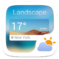 Landscape Weather Widget Theme For PC (Windows And Mac)