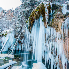 Hanging Lake by Tom Cuccio - Landscapes Waterscapes ( winter, ice, falls, landscape )