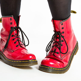 Red Shoes..... by Michael Payne - Artistic Objects Clothing & Accessories ( dms, docmartens )